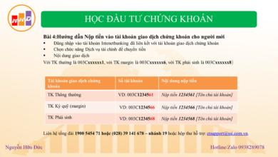 Photo of Hướng dẫn Nộp tiền vào tài khoản giao dịch chứng khoán cho người mới (Bài 4)