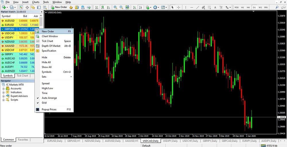 Menubars View Market Watch 2