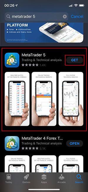 Hướng dẫn cài đặt MT5 trên Iphone (2)