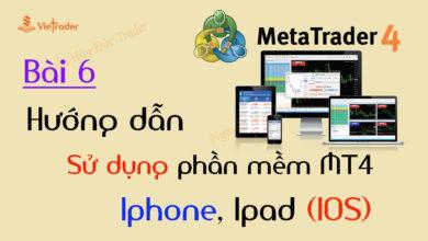 Photo of Hướng dẫn sử dụng phần mềm MT4 trên điện thoại Iphone, Ipad (Bài 6)
