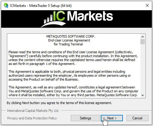 Hướng dẫn cài đặt MT5 sàn ICMarkets