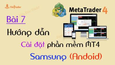 Photo of Hướng dẫn cài đặt phần mềm MT4 cho điện thoại Android (Bài 7)