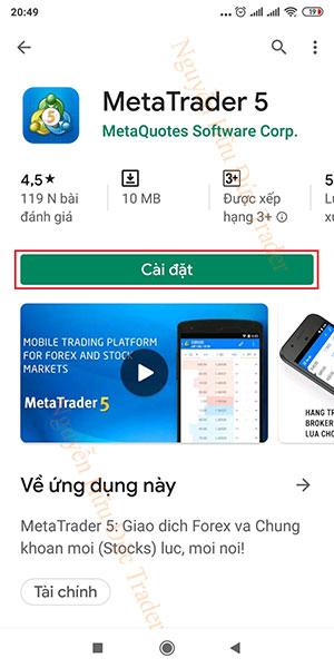Hướng dẫn cài đặt MT5 trên Android (2)