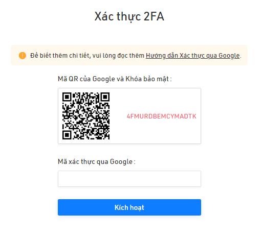 Bảo mật tài khoản sàn Kucoin 2FA (1)