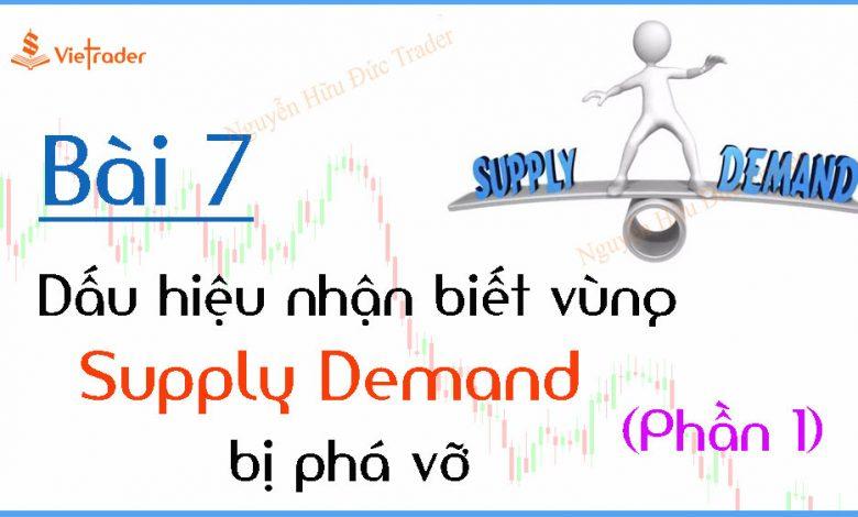 Dấu hiệu nhận biết vùng cung cầu (Supply Demand) bị phá vỡ