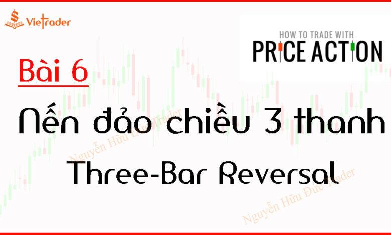 Mô hình nến đảo chiều 3 thanh -Three Bar Reversal (Bài 6)