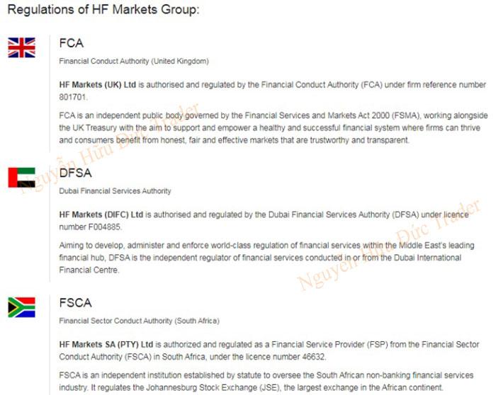 Giấy phép hoạt động FCA của HotForex