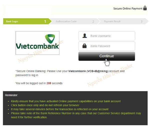 Dang nhap tai khoan Internet Banking