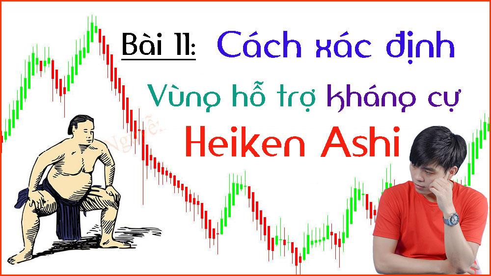 Cách xác định Kháng cự Hỗ trợ Heiken Ashi (Bài 11)