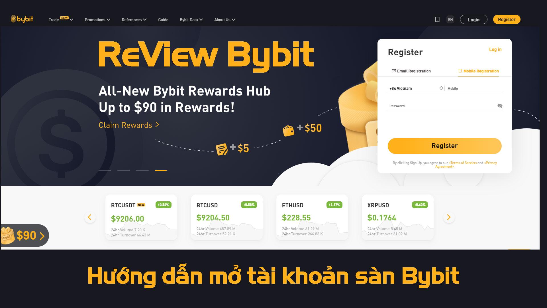 Hướng dẫn mở tài khoản sàn Bybit mới nhất