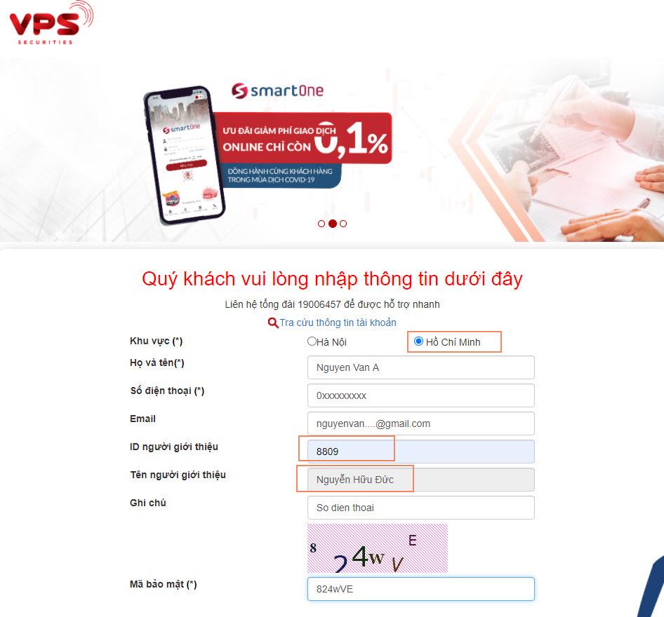 Mở tài khoản giao dịch chứng khoán VPS