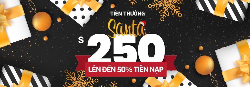 Tham gia chương trình Bonus Santa 250$ sàn AximTrade