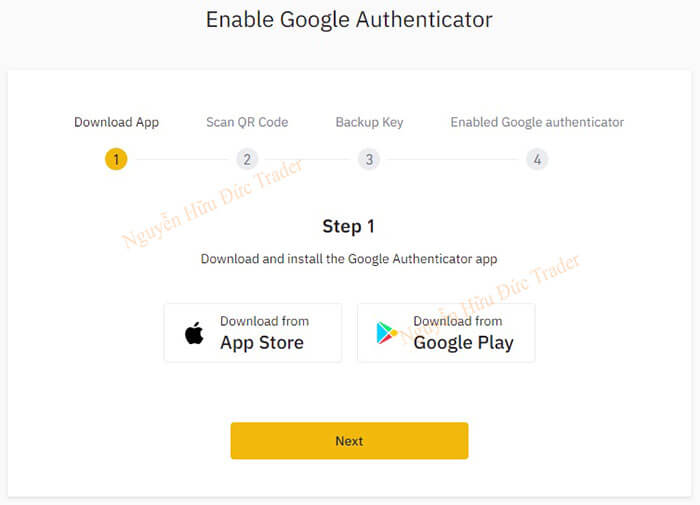 Download ứng dụng Google Authentication