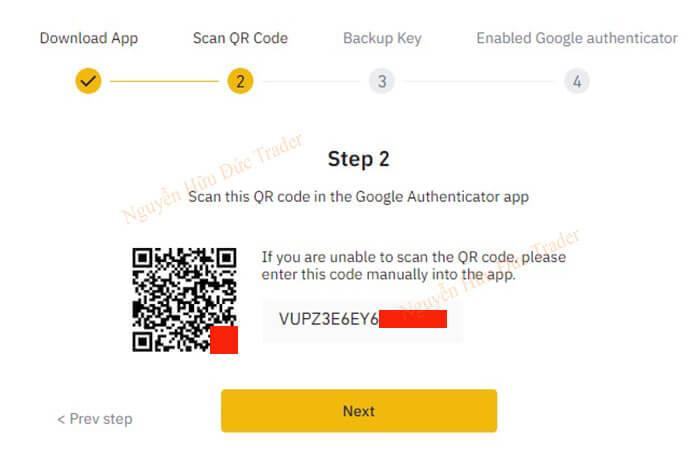 Scan QR code Binance