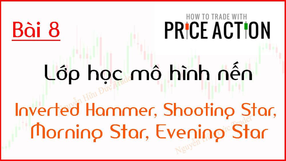 Mô hình nến Inverted Hammer, Shooting Star, Morning Star, Evening Star
