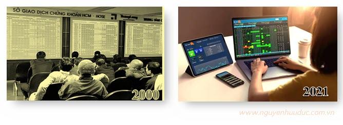Giao dịch chứng khoán năm 2000 và năm 2021