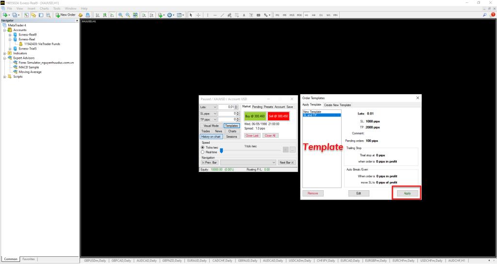 Thiết lập Template SL TP (1)